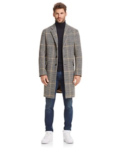 Sandro Overcoat, The Men's Store Sweater, AG Slim Fit Jeans & Reebok Sneakers - Bloomingdale's_0