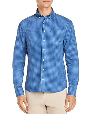 Johnnie-o Aaron Gingham-Print Regular Fit Button-Down Shirt