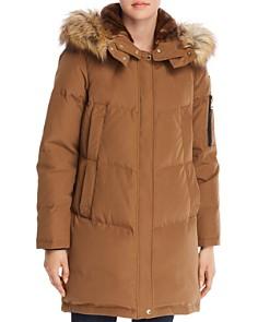VINCE CAMUTO - Faux Fur Trim Double Pocket Parka