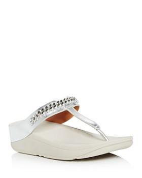 FitFlop - Women's Fino Chain-Embellished Platform Flip-Flops
