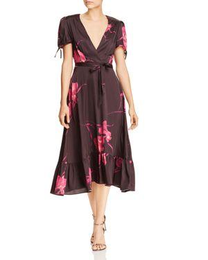 Betsey Johnson Floral Faux-Wrap Dress