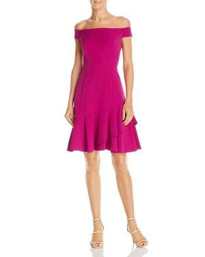 Eliza J Off-the-Shoulder Flounce-Hem Dress 3088585
