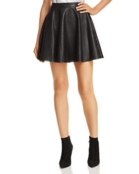 Alice and Olivia - Blaise Leather Mini Skirt