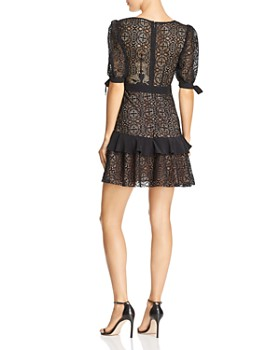 For Love & Lemons - Ruffled Lace Mini Dress - 100% Exclusive