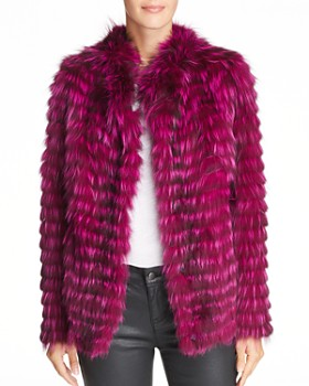 Peri Luxe - Feathered Fox-Fur Jacket