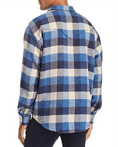 IRO - Storytone Oversized-Buffalo Plaid Flannel Shirt Jacket