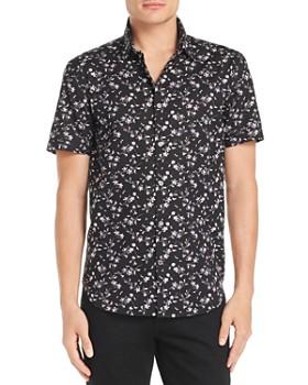 John Varvatos Star USA - Short-Sleeve Regular Fit Floral-Print Shirt - 100% Exclusive
