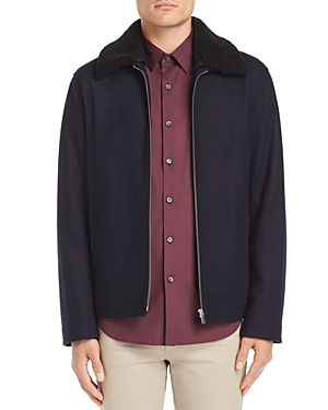 Theory Wyatt Modus Melton Faux Shearling-Trimmed Jacket - 100% Exclusive