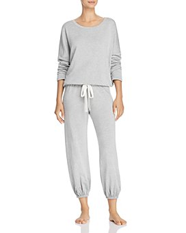 Eberjey - Winter Heather Slouchy Long-Sleeve Top & Cropped Jogger Pants