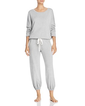 9371b4d558 Eberjey - Winter Heather Slouchy Long-Sleeve Top   Cropped Jogger Pants ...