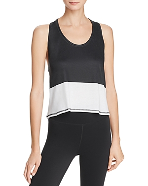 Color-Block Cropped Tank