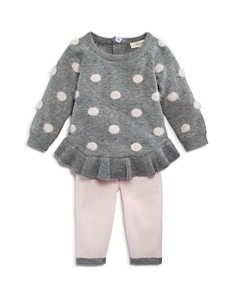 Miniclasix - Girls' Dotted Sweater Top & Leggings Set - Baby