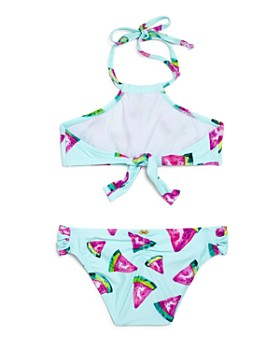 PilyQ - Girls' Watermelon-Print Embroidered 2-Piece Swimsuit - Little Kid, Big Kid