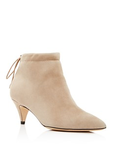 kate spade new york - Women's Sophie Pointed Toe Suede Kitten Heel Ankle Booties