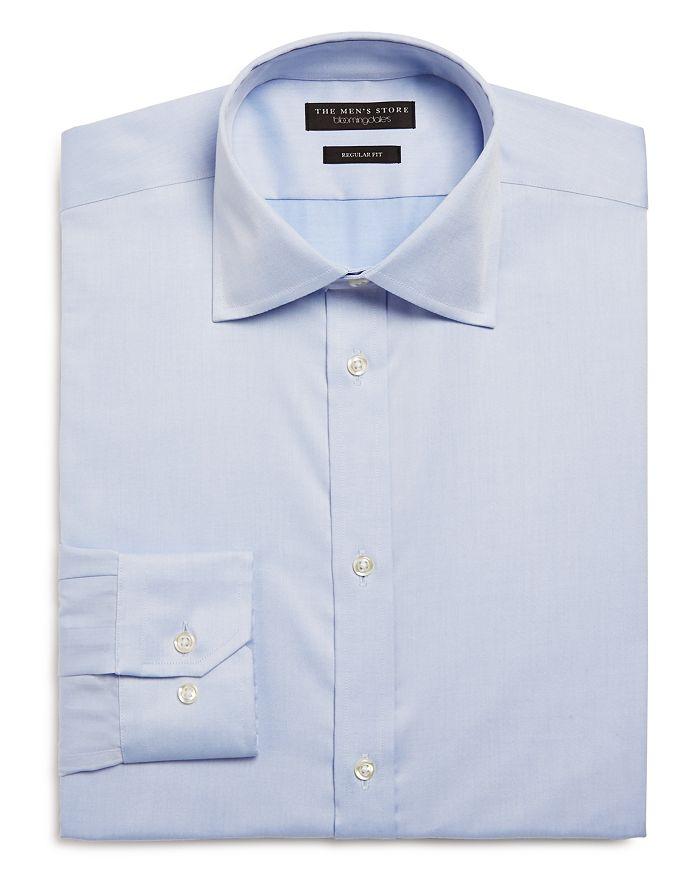 The Men's Store at Bloomingdale's - Basic Twill Regular Fit Dress Shirt - 100% Exclusive