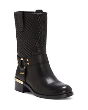 VINCE CAMUTO - Women's Walden Round Toe Leather Booties