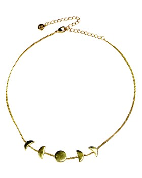 Jules Smith - Moon Phase Choker Necklace, 12""
