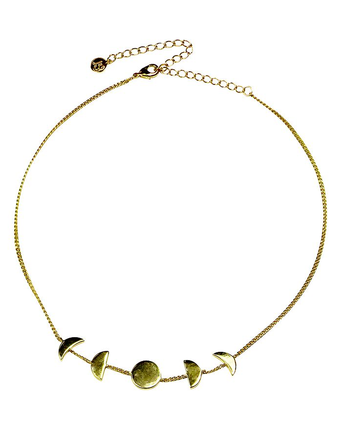 """Jules Smith - Moon Phase Choker Necklace, 12"""""""