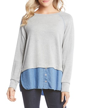 Karen Kane - Layered Look Sweatshirt