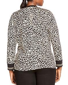 Foxcroft Plus - Veronika Leopard Print Cardigan