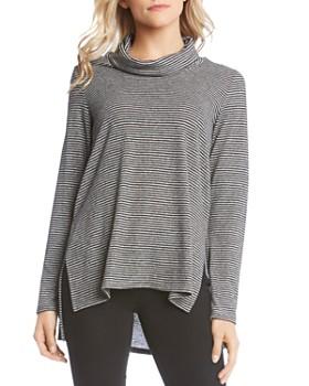Karen Kane - Striped Cowl-Neck Sweater