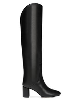 Via Spiga - Women's Nair Almond Toe Leather Mid-Heel Boots