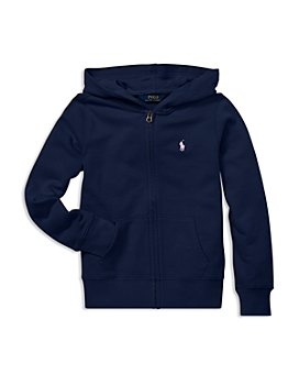 Ralph Lauren - Girls' French Terry Zip-Up Hoodie - Little Kid, Big Kid
