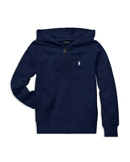 Ralph Lauren - Girls' French Terry Zip-Up Hoodie - Big Kid