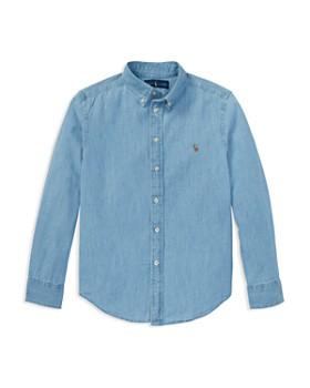 Ralph Lauren - Boys' Chambray Button Down Dress Shirt - Big Kid