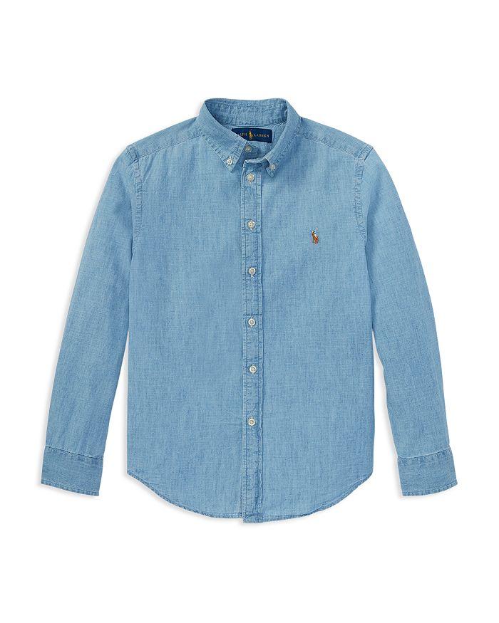5e7ed69bf0b Ralph Lauren Ralph Lauren Boys  Chambray Button Down Dress Shirt ...