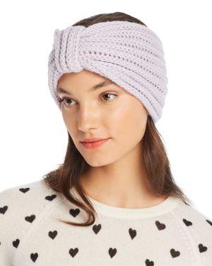 ROSIE SUGDEN Knit Cashmere Headband in Lilac