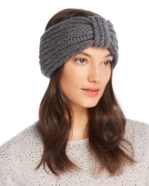 ROSIE SUGDEN Knit Cashmere Headband in Charcoal