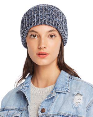 RAFFAELLO BETTINI Marled Rib-Knit Beanie - 100% Exclusive in Charcoal