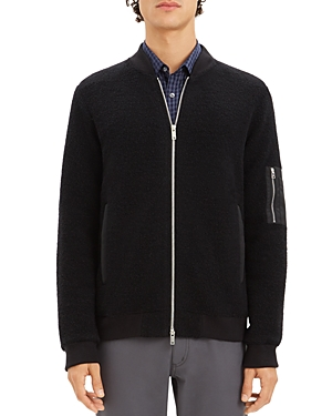 Theory Denzil Zip-Front Fleece Jacket