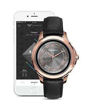 Emporio Armani Tech - Rose Gold-Tone Touchscreen Smartwatch, 46mm