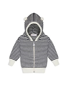 Moncler - Unisex Striped Knit Zip-Up Hoodie - Baby