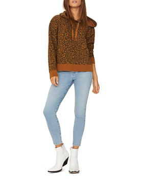 Sanctuary - Venice Leopard Print Hooded Sweatshirt
