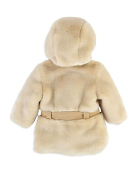 Chloé - Girls' Faux Fur Hooded Coat - Baby