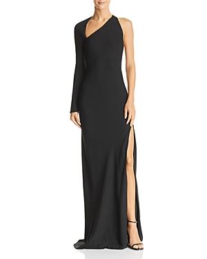 Michelle Mason Asymmetric One-Sleeve Gown