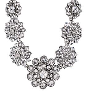 """Oscar de la Renta - Pave Flower Statement Necklace, 16"""""""