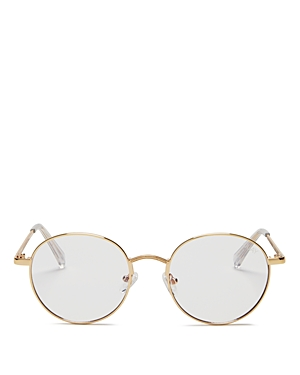 Quay WOMEN'S I SEE YOU BLUE LIGHT ROUND GLASSES, 52.5MM