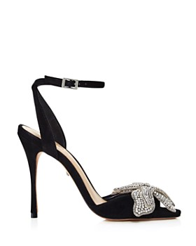 SCHUTZ - Women's Ayanne Embellished Suede High-Heel Sandals