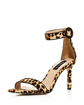 AQUA - Women's Seven Leopard Print Calf Hair High-Heel Sandals - 100% Exclusive