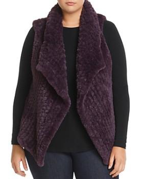 Bagatelle Plus - Draped Faux-Fur Vest