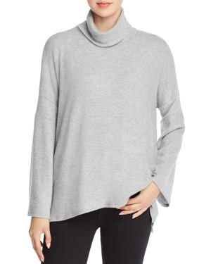RED HAUTE Turtleneck Poncho in Heather Gray