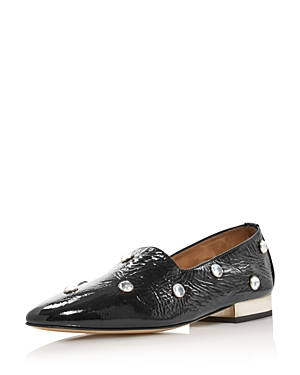 Paul Andrew WOMEN'S IVE EMBELLISHED PATENT LEATHER LOAFERS