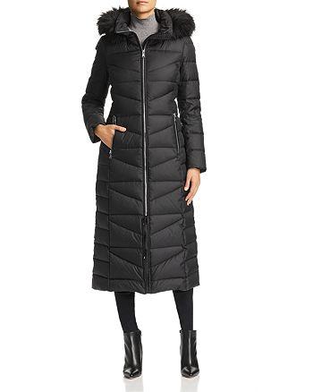Calvin Klein - Faux Fur Trim Maxi Puffer Coat