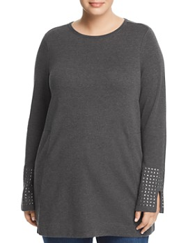 NIC and ZOE Plus - Studded Cuff Tunic Top