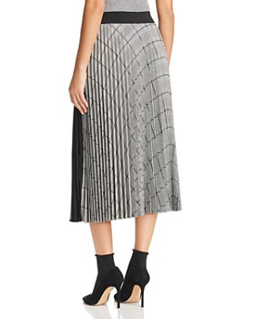Marella - Arold Pleated Glen Plaid Midi Skirt