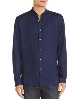 John Varvatos Collection Tonal-Striped Slim Fit Shirt